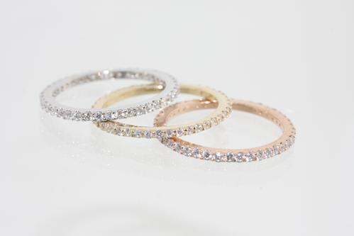 View Diamond Stackable Rings